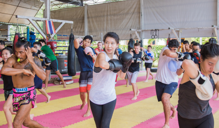 Improve your health at Muay Thai camp for weight loss in Thailand and holiday